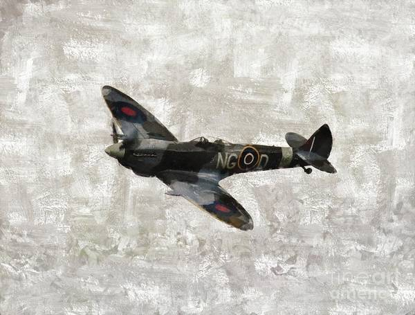 Wall Art - Painting - Spitfire, Wwii by Esoterica Art Agency