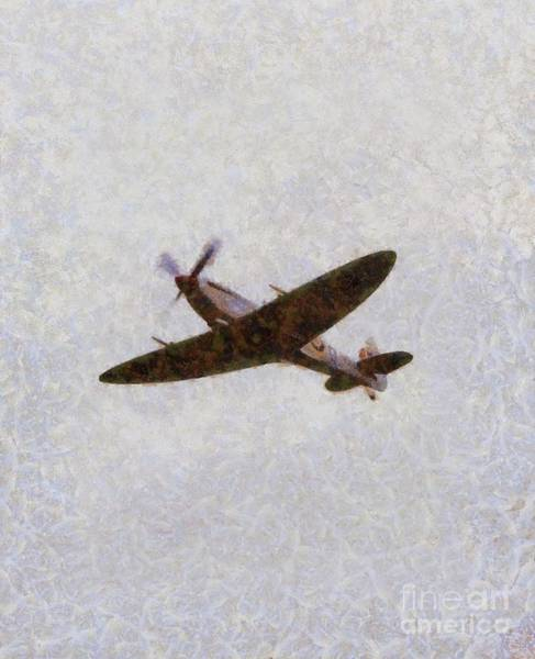 Wall Art - Painting - Spitfire, Wwii by John Springfield