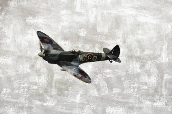Wall Art - Painting - Spitfire, Wwii by Mary Bassett