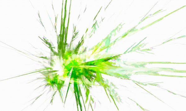 Digital Art - Splash Master Abstract Green by Don Northup