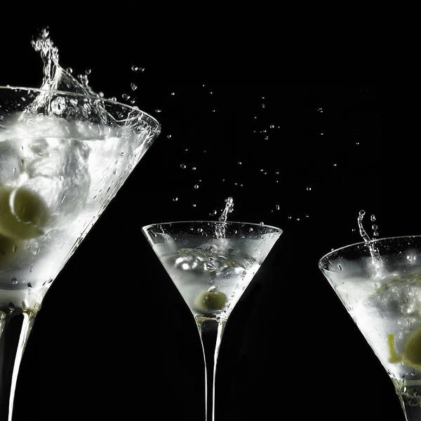 Wall Art - Photograph - Splashed Martini Cocktails by Monica Rodriguez