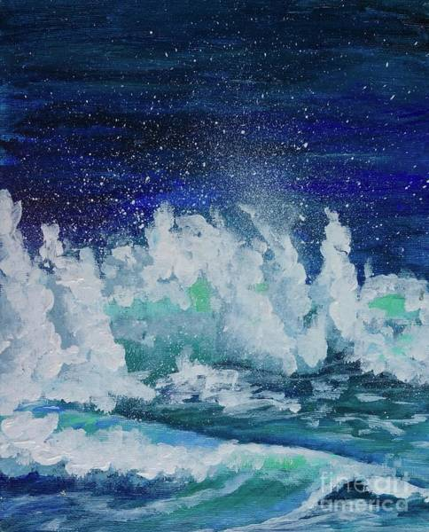 Painting - Splashing Waves by Jacqueline Athmann