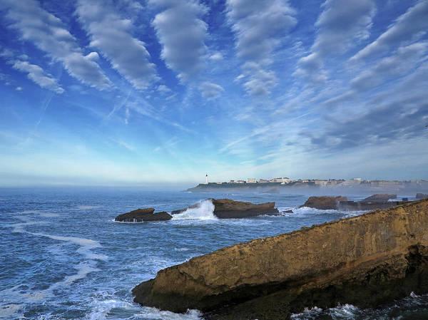 Pyrenees Photograph - Splashing Waves On The Atlantic Beach by Izzet Keribar