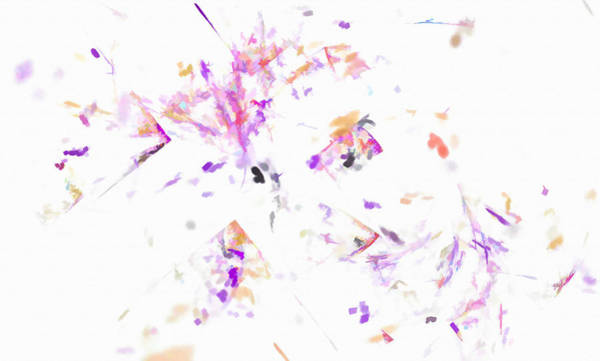 Digital Art - Splatter Abstract Purple by Don Northup