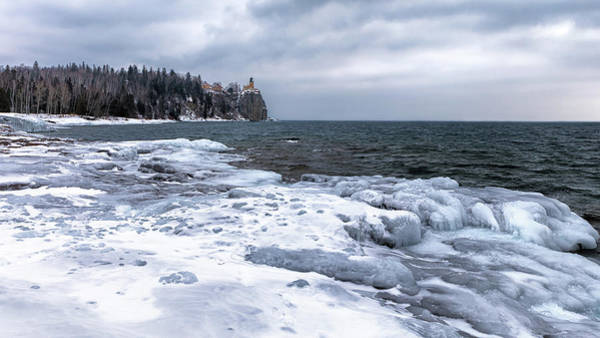 Photograph - Split Rock On Ice by Susan Rissi Tregoning