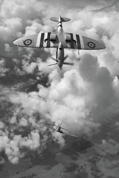Luftwaffe Wall Art - Digital Art - Split S - Bw by Mark Donoghue