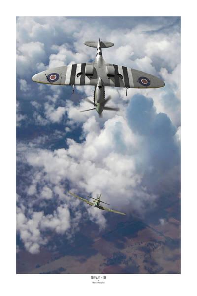 Luftwaffe Wall Art - Digital Art - Split S - Titled by Mark Donoghue