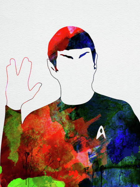 Wall Art - Mixed Media - Spock Watercolor by Naxart Studio