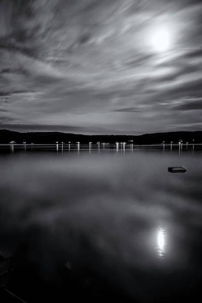 Photograph - Spofford Lake Moon by Tom Singleton