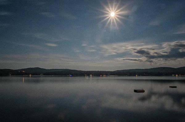 Photograph - Spofford Moon Burst by Tom Singleton