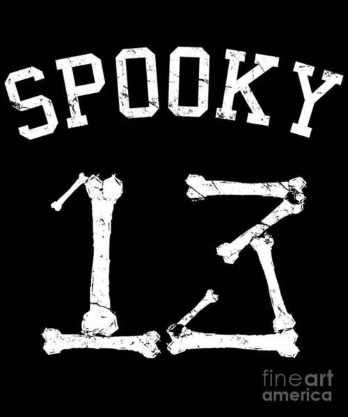 Digital Art - Spooky 13 Halloween Jersey by Flippin Sweet Gear
