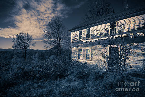 Photograph - Spooky Abandoned Haunted House by Edward Fielding