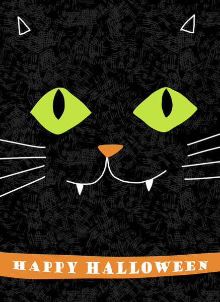 Wall Art - Digital Art - Spooky Cat by A.v. Art