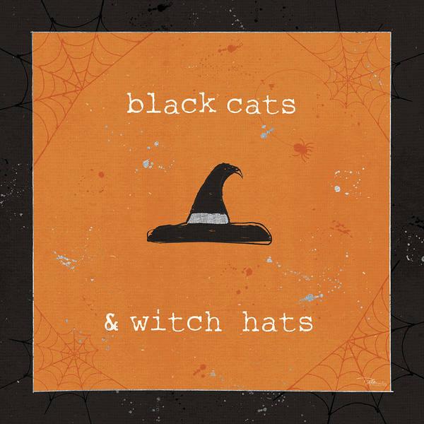 Wall Art - Painting - Spooky Cuties II Witch Hats by Pela Studio