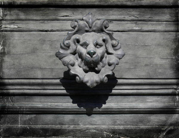 The Doors Wall Art - Photograph - Spooky French Dog Doorknob by Paul Grand Image