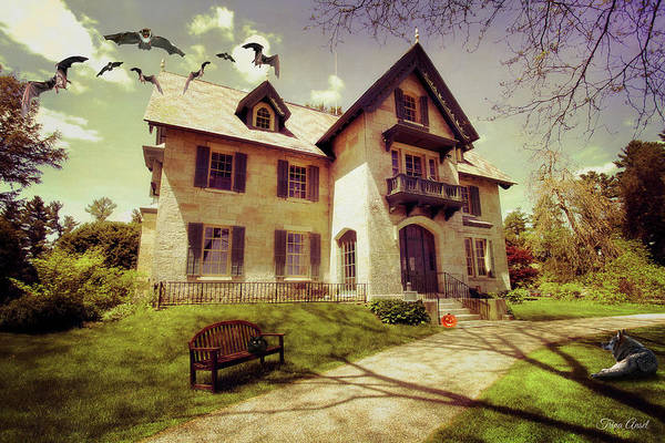 Photograph - Spooky Mansion  by Trina Ansel