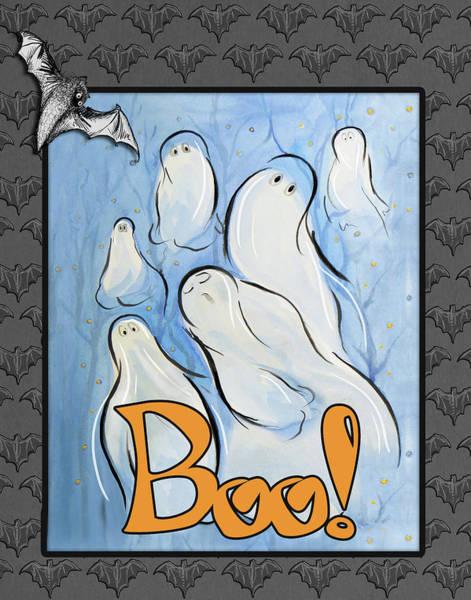 Boo Wall Art - Mixed Media - Spooky Nights II by Diannart