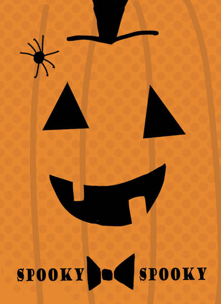 Wall Art - Digital Art - Spooky Pumpkin by A.v. Art