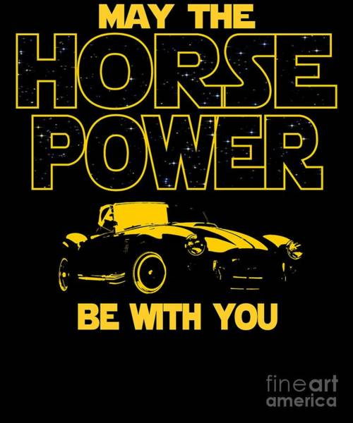 Awesome Show Digital Art - Sports Old Car Horse Power Be With You  by Dusan Vrdelja