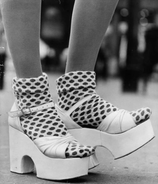 Shoe Photograph - Spotty Socks by Gunnar Larsen