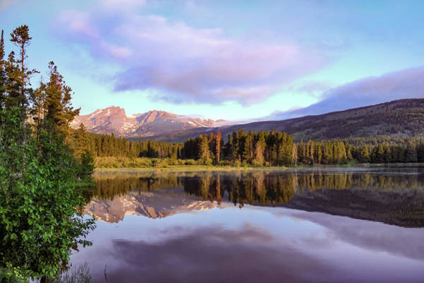 Photograph - Sprague Lake Mountain Landscape Morning Reflections - Rocky Mountain National Park by Gregory Ballos