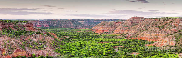 Photograph - Sprawling Panorama Of Palo Duro Canyon And Capitol Peak - Texas State Park Amarillo Panhandle by Silvio Ligutti