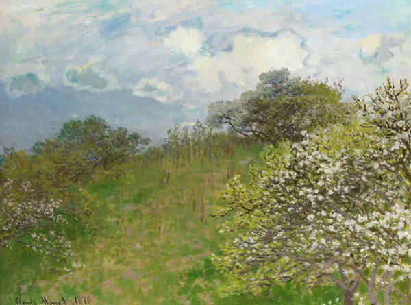 Wall Art - Painting - Spring, 1875 by Claude Monet