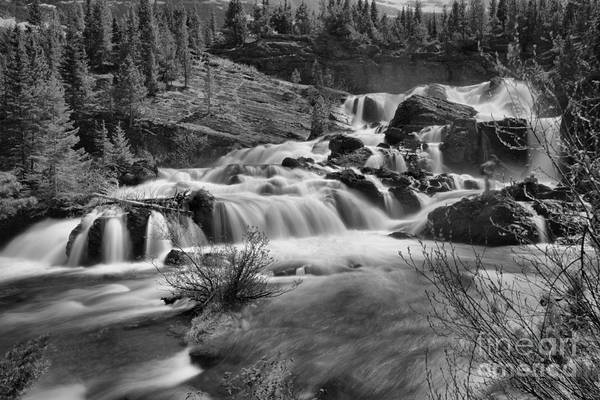 Wall Art - Photograph - Spring 2019 Red Rock Falls Gusher Black And White by Adam Jewell