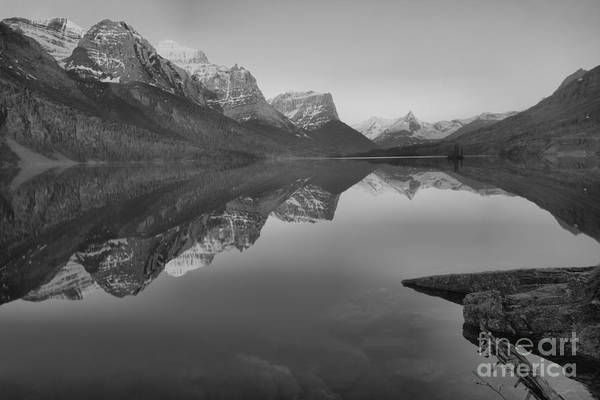 Photograph - Spring 2019 St Mary Sunrise Reflections Black And White by Adam Jewell
