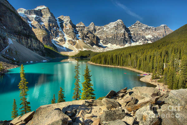 Photograph - Spring Afternoon At Moraine Lake by Adam Jewell