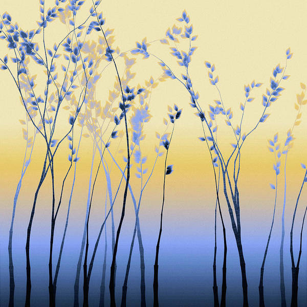 Art Print featuring the digital art Spring Aspen by Susan Maxwell Schmidt