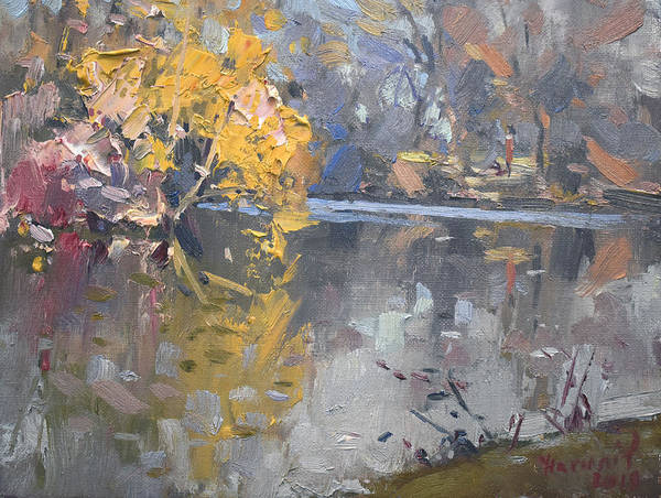 Wall Art - Painting - Spring At Hyde Park by Ylli Haruni