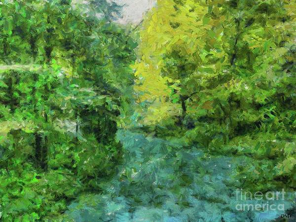 Wall Art - Painting - Spring At The Soca River by Dragica Micki Fortuna