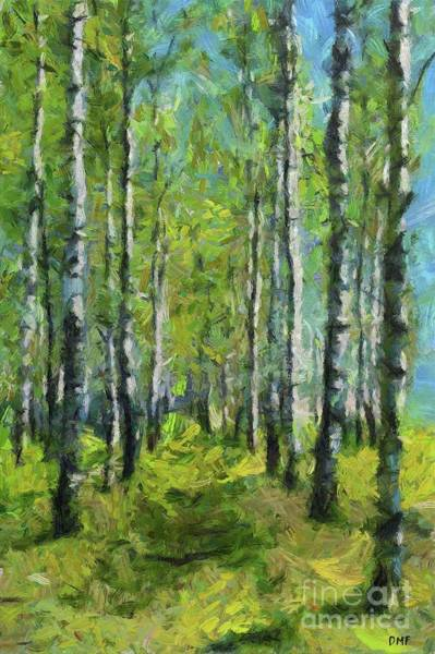 Wall Art - Painting - Spring Birch Forest by Dragica Micki Fortuna