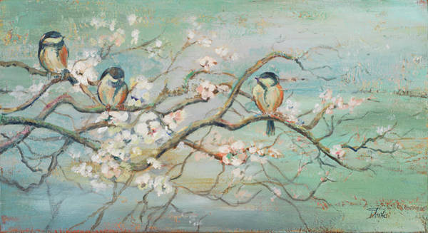 Wall Art - Painting - Spring Branch With Birds by Patricia Pinto