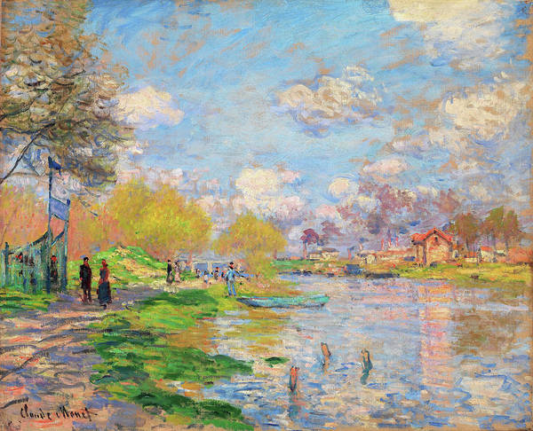 Park Avenue Painting - Spring By The Seine - Digital Remastered Edition by Claude Monet