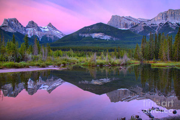 Photograph - Spring Canmore Mountain Reflections by Adam Jewell