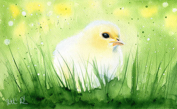 Painting - Spring Chick by Dora Hathazi Mendes