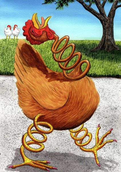 Painting - Spring Chicken by Catherine G McElroy