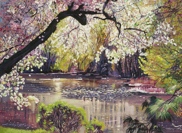 Painting - Spring Colors At The Pond by David Lloyd Glover
