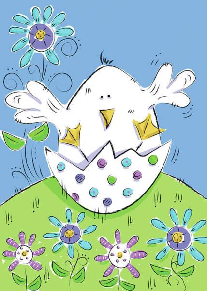 Wall Art - Digital Art - Spring Easter Eggs II by Deidre Mosher