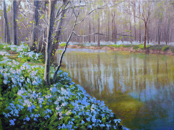 Wall Art - Painting - Spring Evening by Armand Cabrera