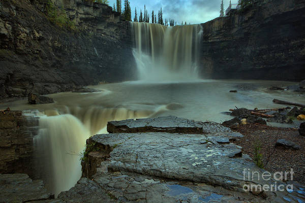 Photograph - Spring Evening At Crescent Falls by Adam Jewell