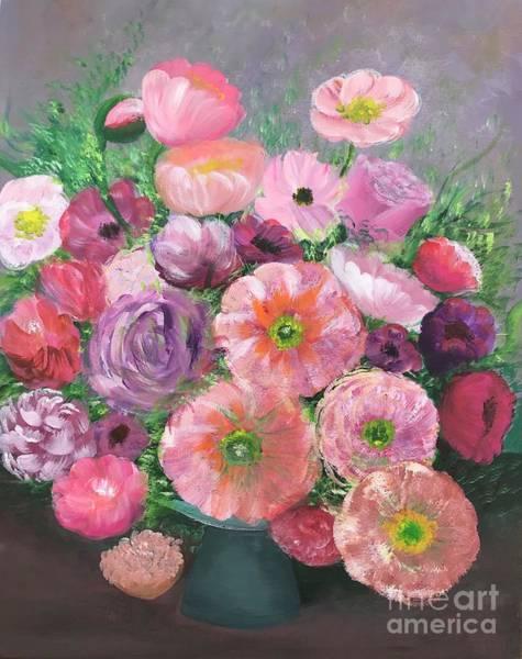 Amaryllis Painting - Spring Flowers by Elena Guryeva