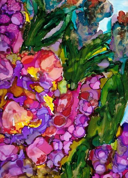 Painting - Spring Flowers by Jan Pellizzer