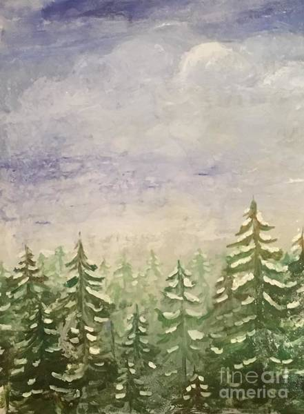 Painting - spring flurry Teton Style by Shelley Myers