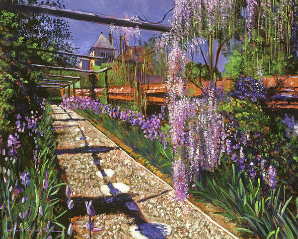 Painting - Spring Garden Wisteria by David Lloyd Glover