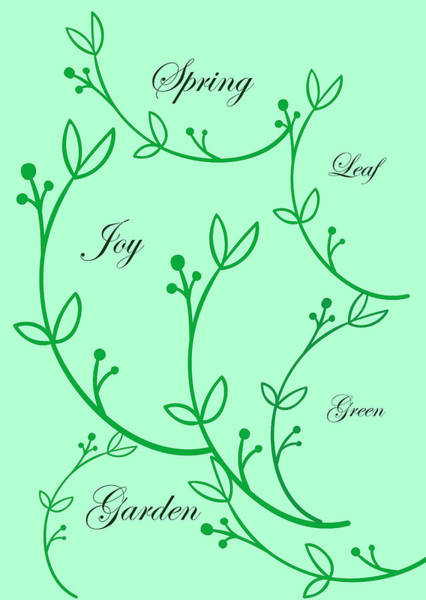 New Leaf Mixed Media - Spring Green by Johanna Hurmerinta
