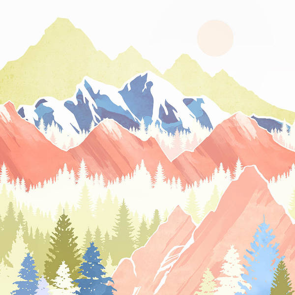 Spring Mountains Digital Art - Spring Hills by Spacefrog Designs