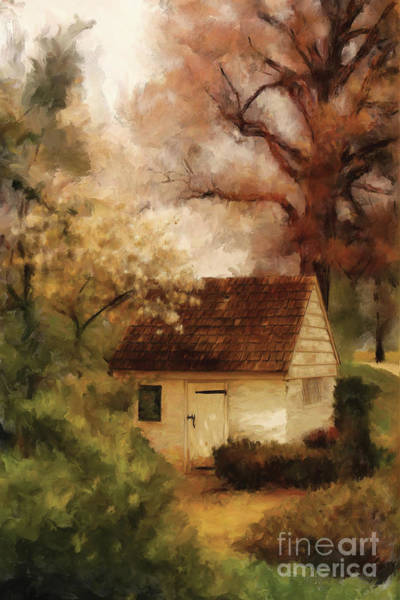 Digital Art - Spring House In The Spring by Lois Bryan